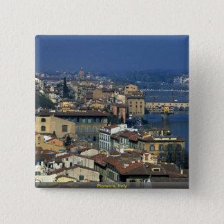 Badge Carré 5 Cm Florence, Italie