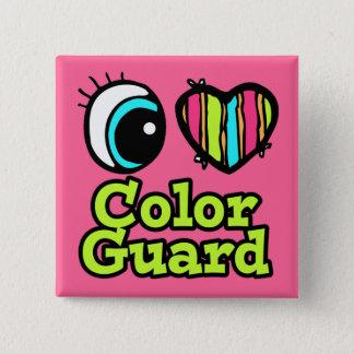 Badge Carré 5 Cm Garde du drapeau intelligente d'amour du coeur I