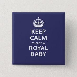 Badge Carré 5 Cm Gardez le calme il y a un bébé royal