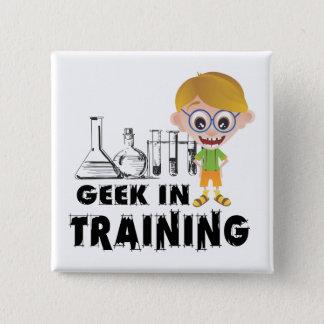 Badge Carré 5 Cm Geek en chimie de formation