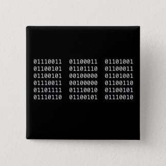 Badge Carré 5 Cm Goupille binaire