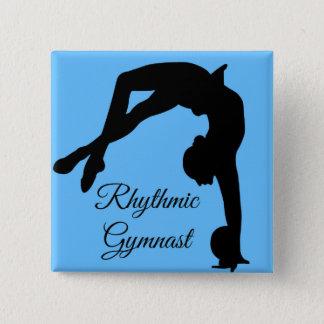"""Badge Carré 5 Cm Goupille """"cadeaux de bouton de gymnastique"""