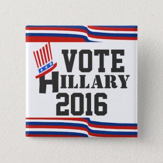 Badge Carré 5 Cm Hillary 2016 élections Démocrate