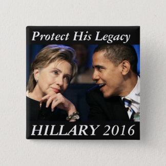 Badge Carré 5 Cm Hillary Clinton 2016