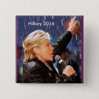 Badge Carré 5 Cm Hillary Clinton pour le président 2016