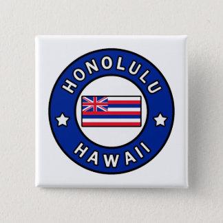 Badge Carré 5 Cm Honolulu Hawaï