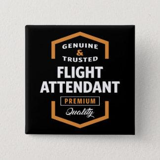 Badge Carré 5 Cm Idées de cadeau du steward (hôtesse de l'air) |