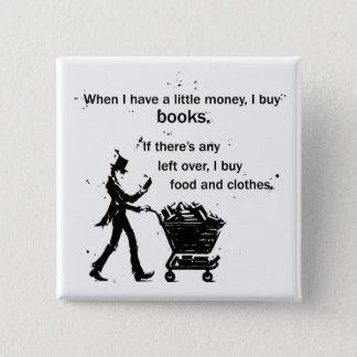 Badge Carré 5 Cm J'achète des livres