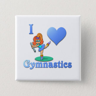 Badge Carré 5 Cm j'aime la gymnastique #1
