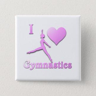 Badge Carré 5 Cm j'aime la gymnastique #6