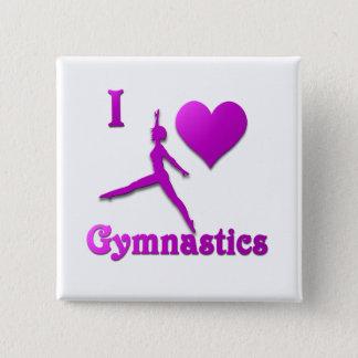 Badge Carré 5 Cm j'aime la gymnastique #8