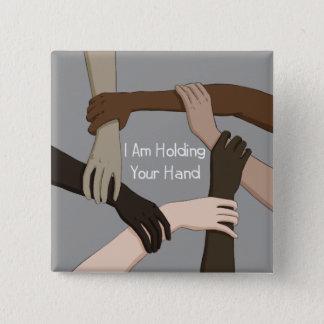 Badge Carré 5 Cm Je tiens votre main par Alicia de Koning