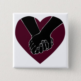 Badge Carré 5 Cm Je tiens votre main par des @HugoDraws