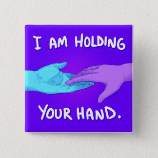 Badge Carré 5 Cm Je tiens votre main par des @Kokoronis