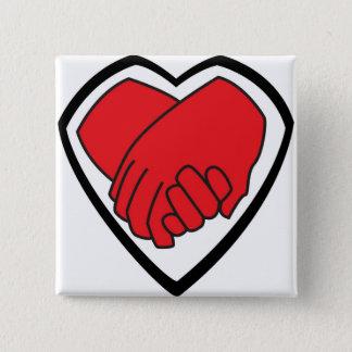 Badge Carré 5 Cm Je tiens votre main par des @LoganC_Jones