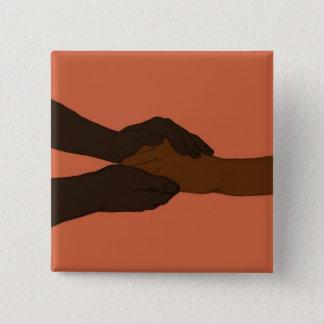 Badge Carré 5 Cm Je tiens votre main par @exvitamutatio