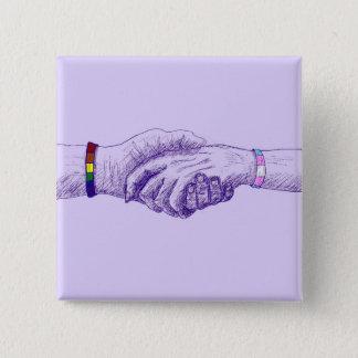 Badge Carré 5 Cm Je tiens votre main par le @cobaltpilot