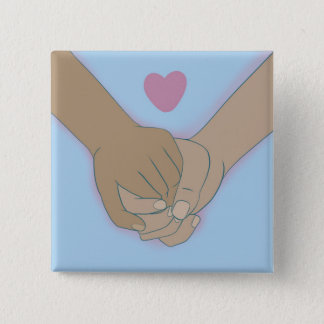 Badge Carré 5 Cm Je tiens votre main par le @Kkiticath