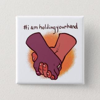 Badge Carré 5 Cm Je tiens votre main par le @KrisCrittah