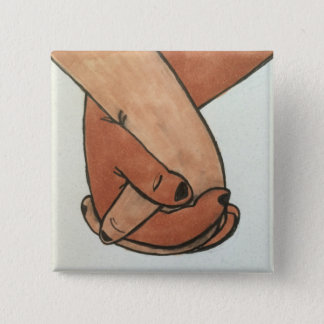 Badge Carré 5 Cm Je tiens votre main par le @Oohbiscuit
