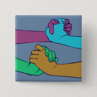 Badge Carré 5 Cm Je tiens votre main (v.2) par des @C_Rowles
