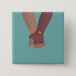 Badge Carré 5 Cm Je tiens votre main (v.2) par des @SunflowerSnips
