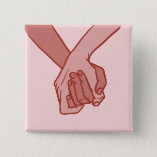 Badge Carré 5 Cm Je tiens votre main (v.3) par le beau Pirrone