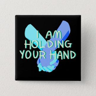 Badge Carré 5 Cm Je tiens votre main (v.4) par Britt Treichel