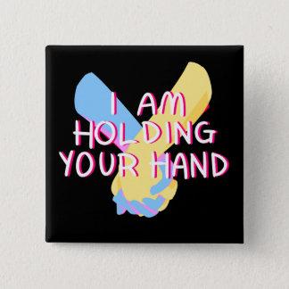 Badge Carré 5 Cm Je tiens votre main (v.5) par Britt Treichel