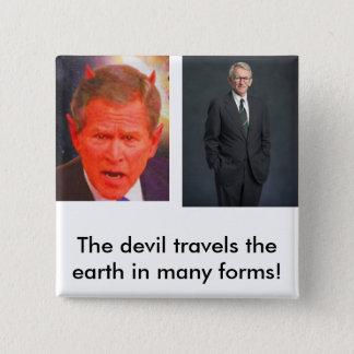 Badge Carré 5 Cm Joe riley, SATAN, le voyage de diable… - Customisé