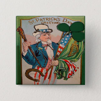 Badge Carré 5 Cm Jour de la Saint Patrick vintage 21