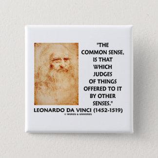 Badge Carré 5 Cm Juges de bon sens des choses Leonardo da Vinci