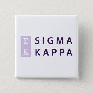 Badge Carré 5 Cm Kappa de sigma empilé