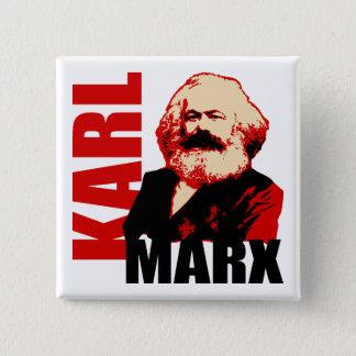 Badge Carré 5 Cm Karl Marx, socialiste et communiste
