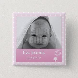 Badge Carré 5 Cm Kitty - goupille rose