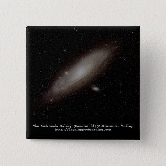 Badge Carré 5 Cm La galaxie d'Andromeda (M31)