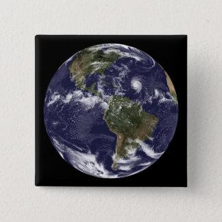Badge Carré 5 Cm La pleine terre montrant l'Amérique du Nord 2