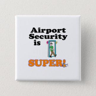 Badge Carré 5 Cm la sécurité dans les aéroports est superbe