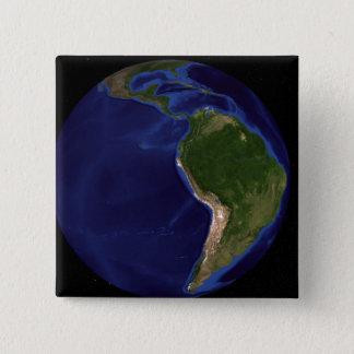 Badge Carré 5 Cm La terre de marbre bleue 8 de prochaine génération