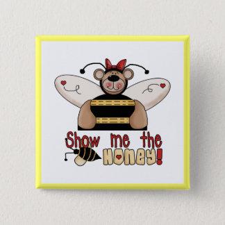 Badge Carré 5 Cm L'abeille me montrent les T-shirts et les cadeaux