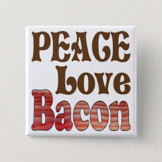 Badge Carré 5 Cm Lard d'amour de paix
