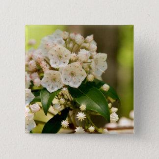 Badge Carré 5 Cm Laurier de montagne en fleur