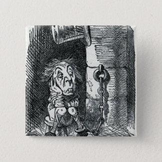 Badge Carré 5 Cm Le chapelier fou a été emprisonné par la reine