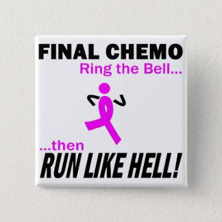 Badge Carré 5 Cm Le chimio final courent beaucoup - cancer du sein