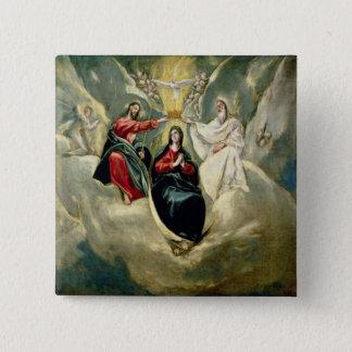 Badge Carré 5 Cm Le couronnement de la Vierge, c.1591-92