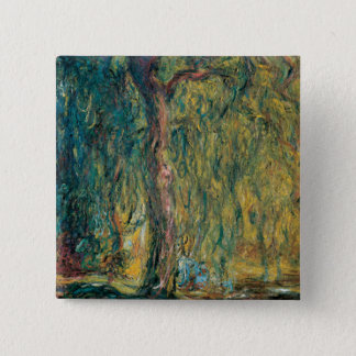 Badge Carré 5 Cm Le saule pleurant de Claude Monet