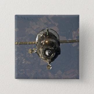 Badge Carré 5 Cm Le vaisseau spatial 3 de Soyuz TMA-19