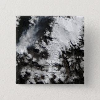 Badge Carré 5 Cm Le volcan de Chaiten au Chili
