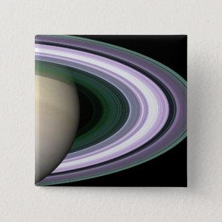 Badge Carré 5 Cm Les anneaux de Saturn