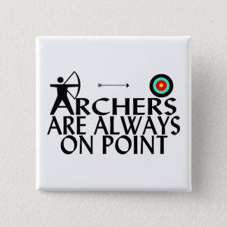 Badge Carré 5 Cm Les archers sont toujours sur le point